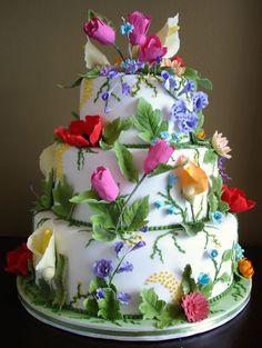 Birthday Cake Tiers Of Roses Rachel Dacus